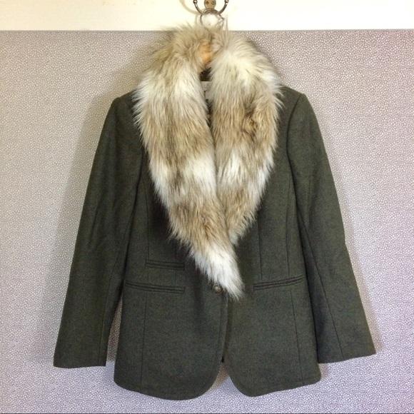 LOFT Jackets & Blazers - S LOFT Fur Trimmed Jacket New